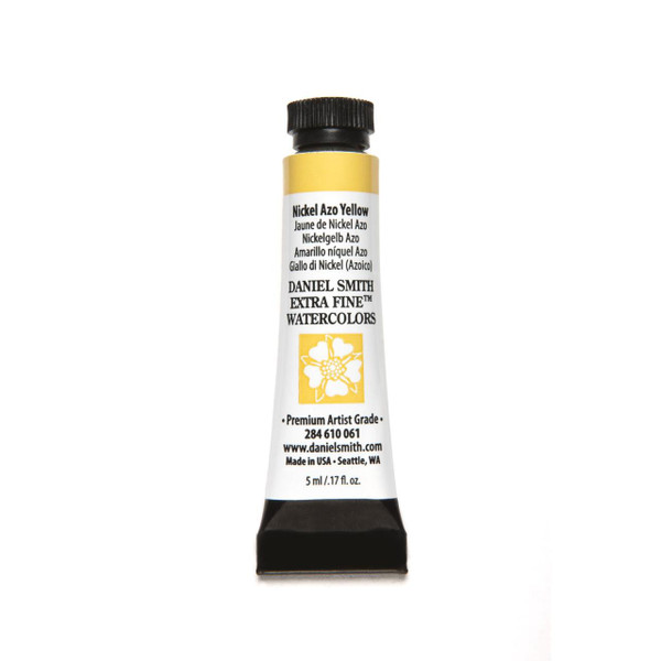 Nickel Azo Yellow, DANIEL SMITH Extra Fine Watercolors 5ml Tubes -