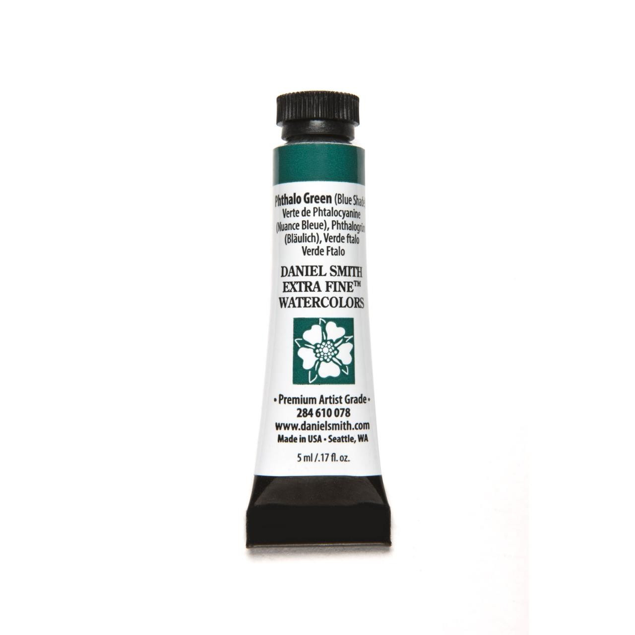 Phthalo Green - Blue Shade, DANIEL SMITH Extra Fine Watercolors 5ml Tubes -