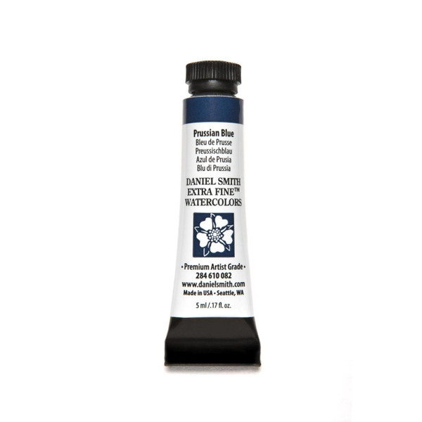 Prussian Blue, DANIEL SMITH Extra Fine Watercolors 5ml Tubes -