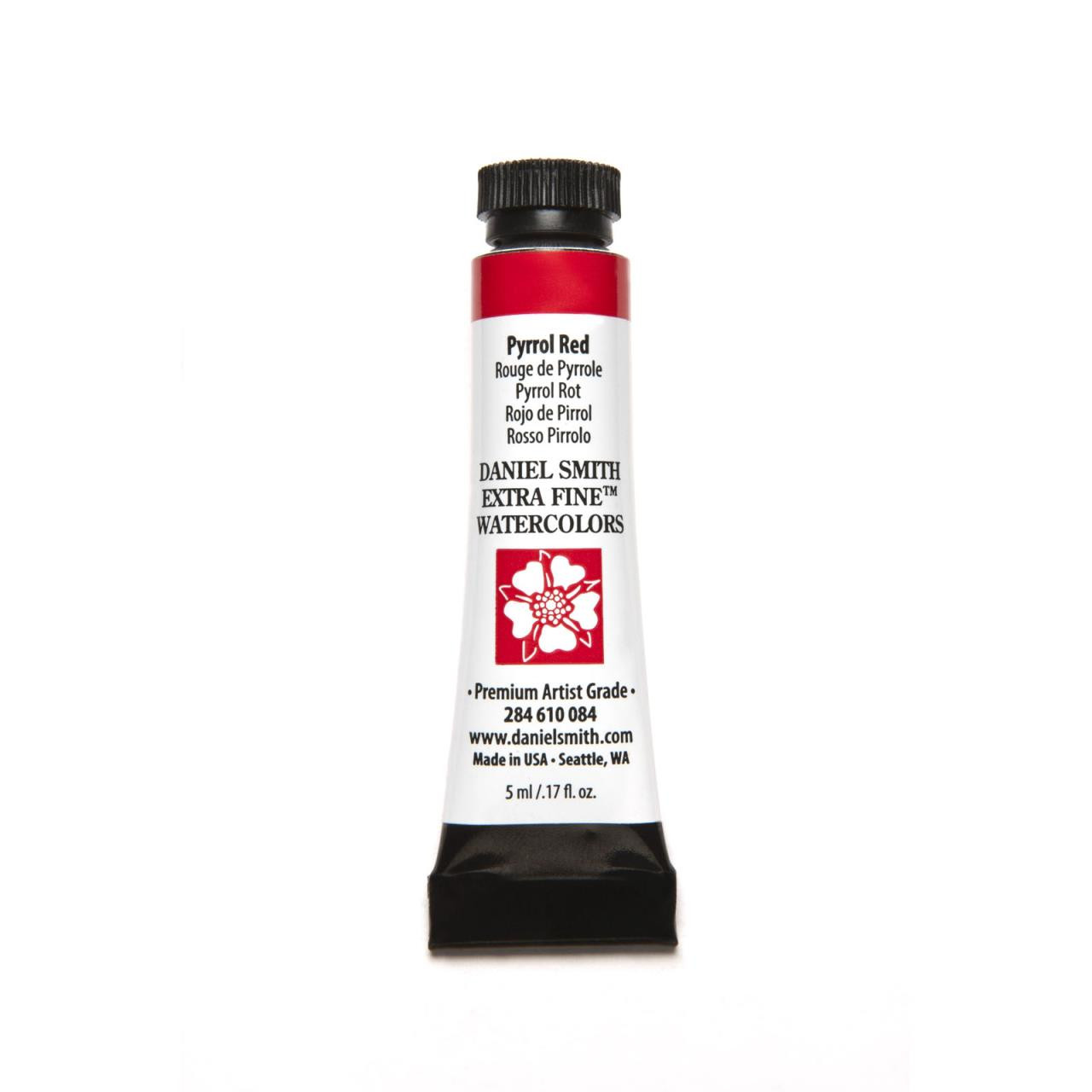 Pyrrol Red, DANIEL SMITH Extra Fine Watercolors 5ml Tubes -