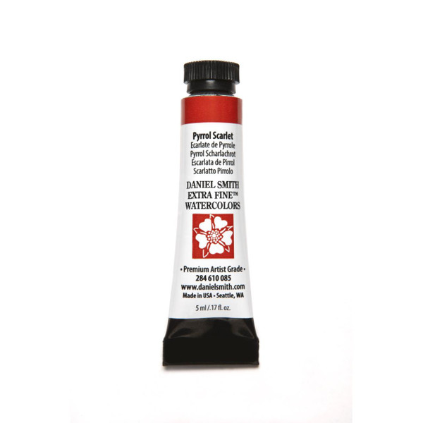 Pyrrol Scarlet, DANIEL SMITH Extra Fine Watercolors 5ml Tubes -