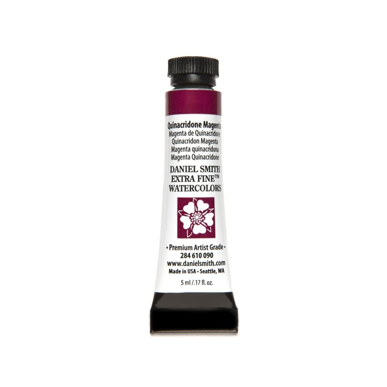 Quinacridone Magenta, DANIEL SMITH Extra Fine Watercolors 5ml Tubes -