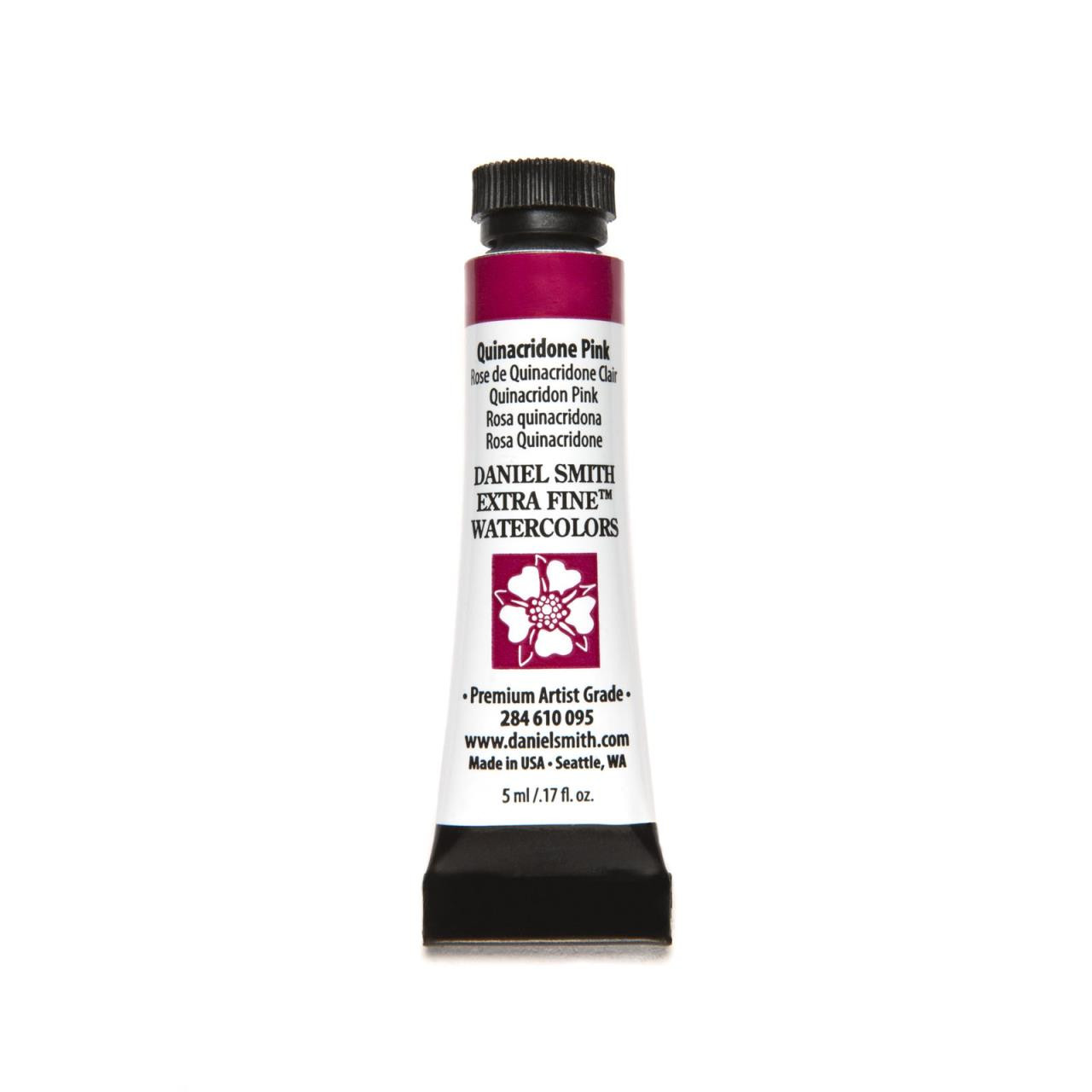 Quinacridone Pink, DANIEL SMITH Extra Fine Watercolors 5ml Tubes -