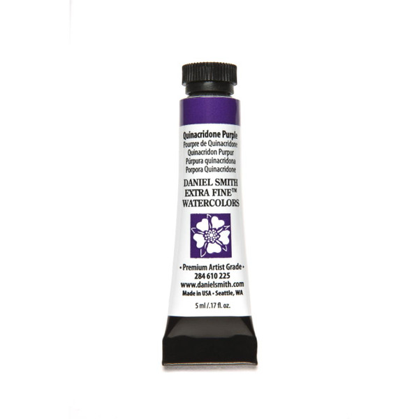 Quinacridone Purple, DANIEL SMITH Extra Fine Watercolors 5ml Tubes -