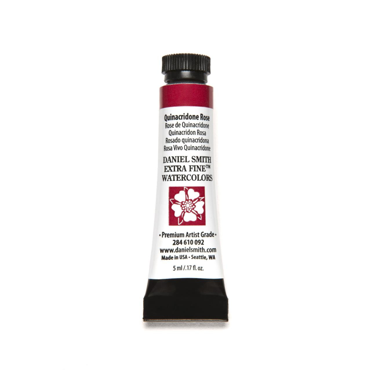 Quinacridone Rose, DANIEL SMITH Extra Fine Watercolors 5ml Tubes -
