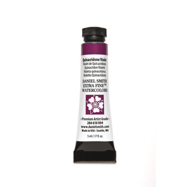 Quinacridone Violet, DANIEL SMITH Extra Fine Watercolors 5ml Tubes -