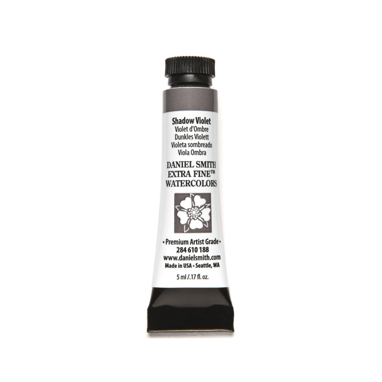 Shadow Violet, DANIEL SMITH Extra Fine Watercolors 5ml Tubes -