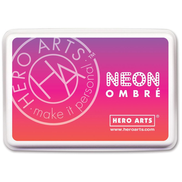 Hero Arts Ombre Ink Pad, Neon Red to Purple -