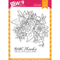 WPlus9 Design Studio Clear Stamps, Beautiful Bouquet - Ranunculus -