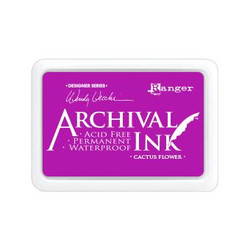 Ranger Archival Ink Pad, Cactus Flower by Wendy Vecchi -
