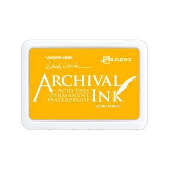 Ranger Archival Ink Pad, Sunflower by Wendy Vecchi -