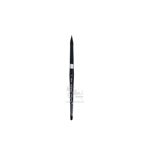 Silver Brush Black Velvet Watercolor Brushes, Short Round 12 -