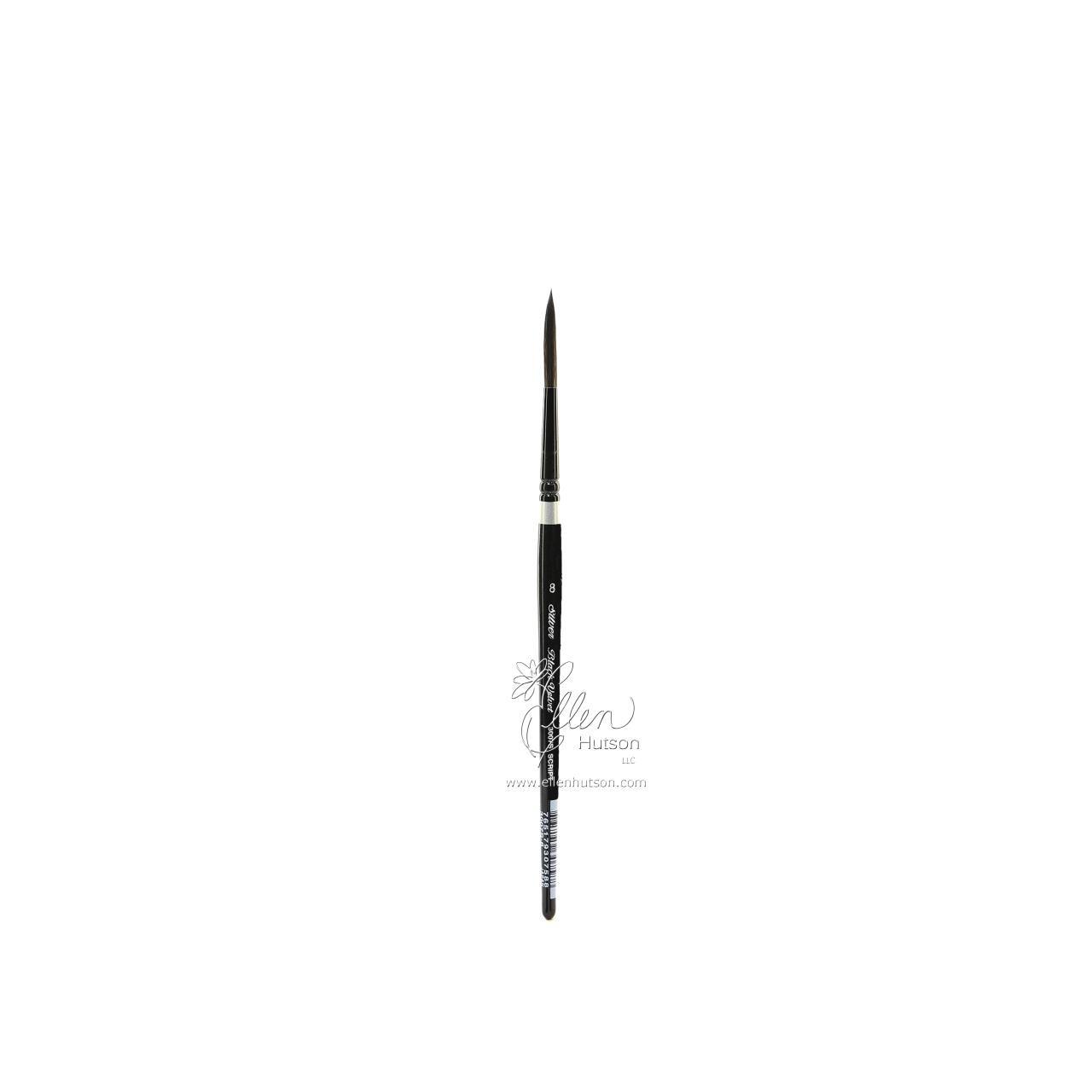 Silver Brush Black Velvet Watercolor Brushes, Short Script Liner 8 -