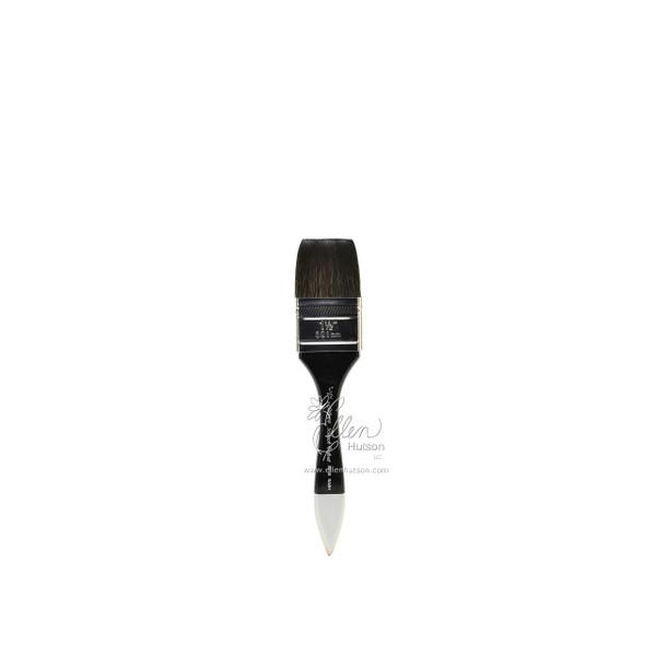 Silver Brush Black Velvet Watercolor Brushes, Short Wide Wash Blender 1-1/2 in -