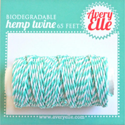 Aquamarine, Avery Elle Hemp Twine -