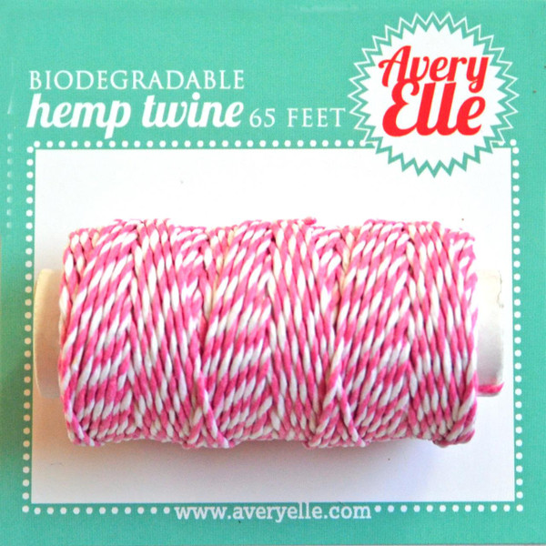 Raspberry, Avery Elle Hemp Twine -