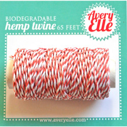 Strawberry, Avery Elle Hemp Twine -