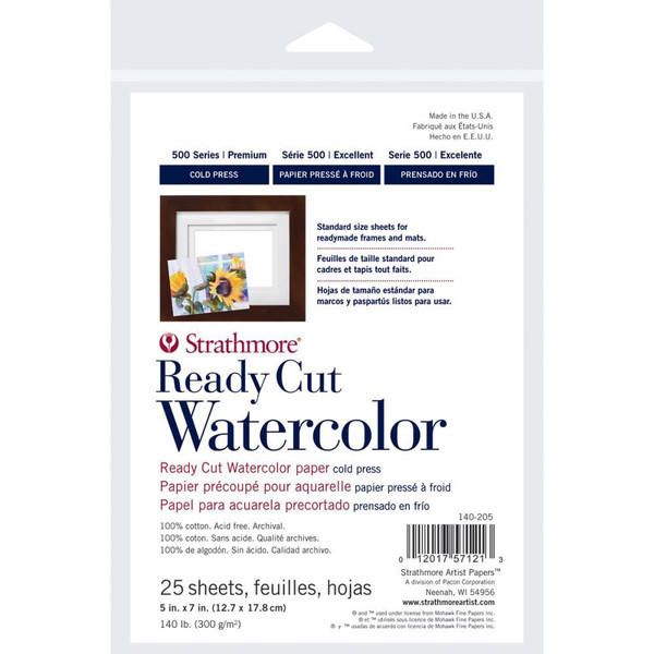 Strathmore Watercolor Paper Pack, 5x7 Cold Press -