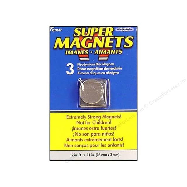 The Magnet Source Magnets, Neodymium Super Disc 5/8 -