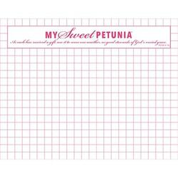 Mini Grid Paper Pad, My Sweet Petunia -