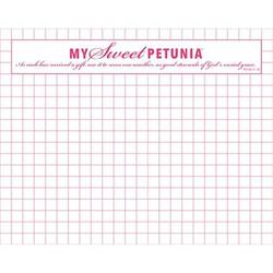Mini Grid Paper Pad, My Sweet Petunia -