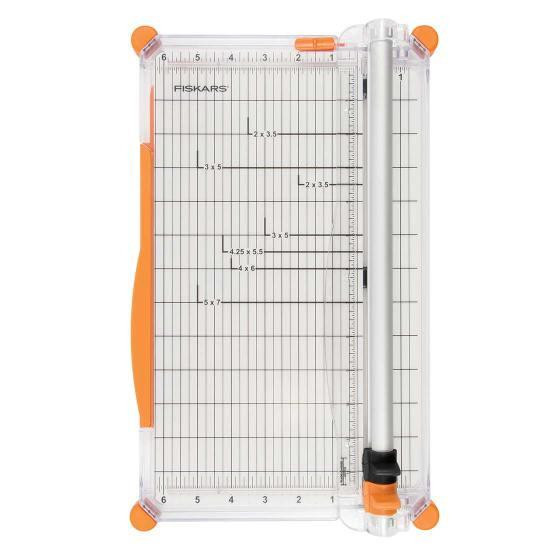 Deluxe 12 Inch Paper Trimmer with Aluminum Cut Rail, Fiskars -