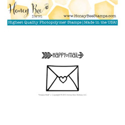 Honey Bee Clear Stamps, Happy Mail - 651973563230