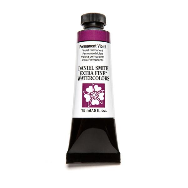 Permanent Violet, DANIEL SMITH Extra Fine Watercolors 15 ml Tubes -