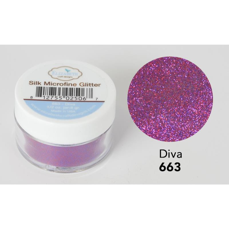 Elizabeth Craft Designs Silk Microfine Glitter, Diva -