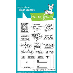 Tiny Tag Sayings, Lawn Fawn Clear Stamps -