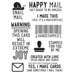 Snail Mail, Technique Tuesday Clear Stamps -