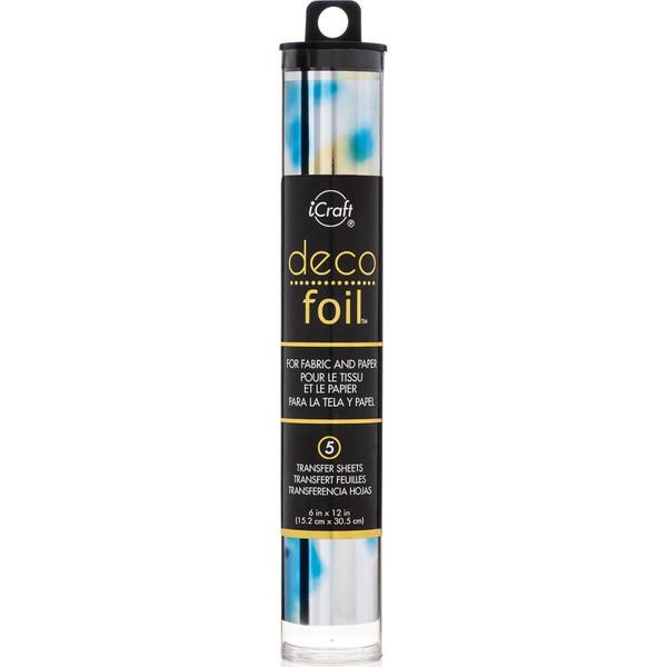 iCraft Deco Foil Transfer Sheets, Lapis Watercolor -