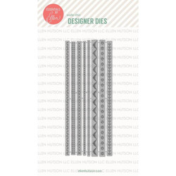 Stitching Lines by Julie Ebersole, Essentials by Ellen Designer Dies -