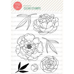 Mondo Peony by Julie Ebersole, Essentials by Ellen Clear Stamps -