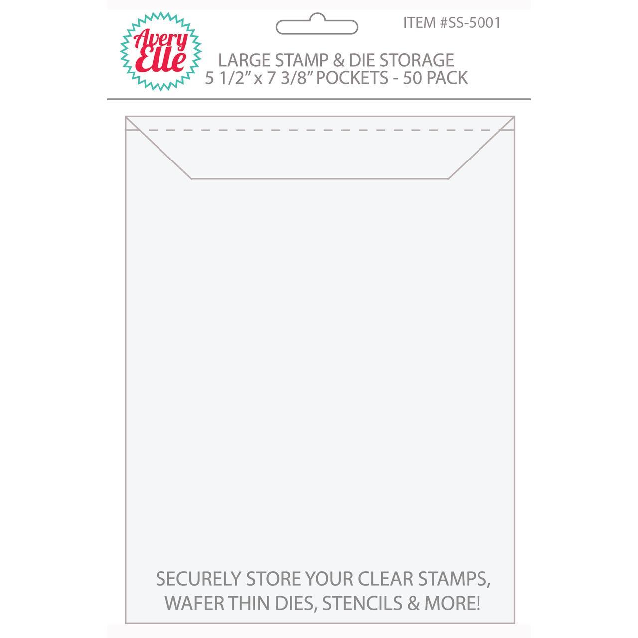Large -50 pk, Avery Elle Stamp & Die Storage Pockets -