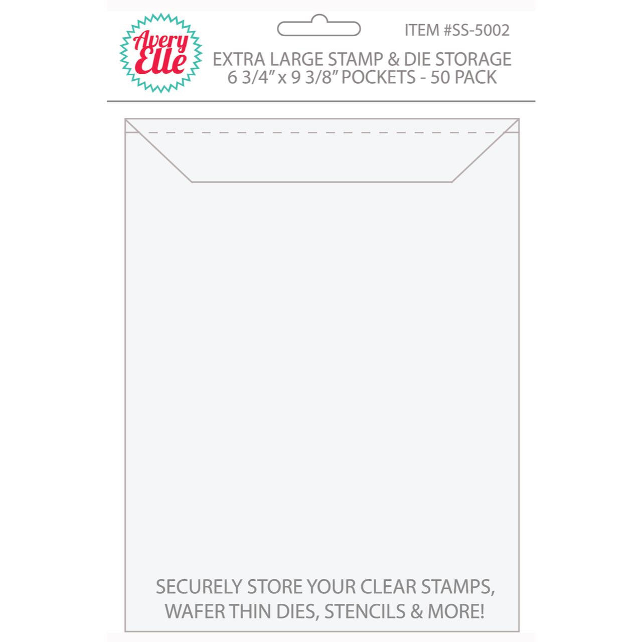 Extra Large -50 pk, Avery Elle Stamp & Die Storage Pockets -