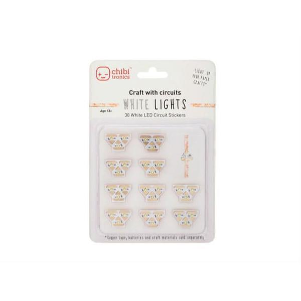 White LED Circuit Stickers - 30 pk (675346), Chibitronics -