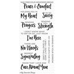 Deepest Sympathy, My Favorite Things Clear Stamps -