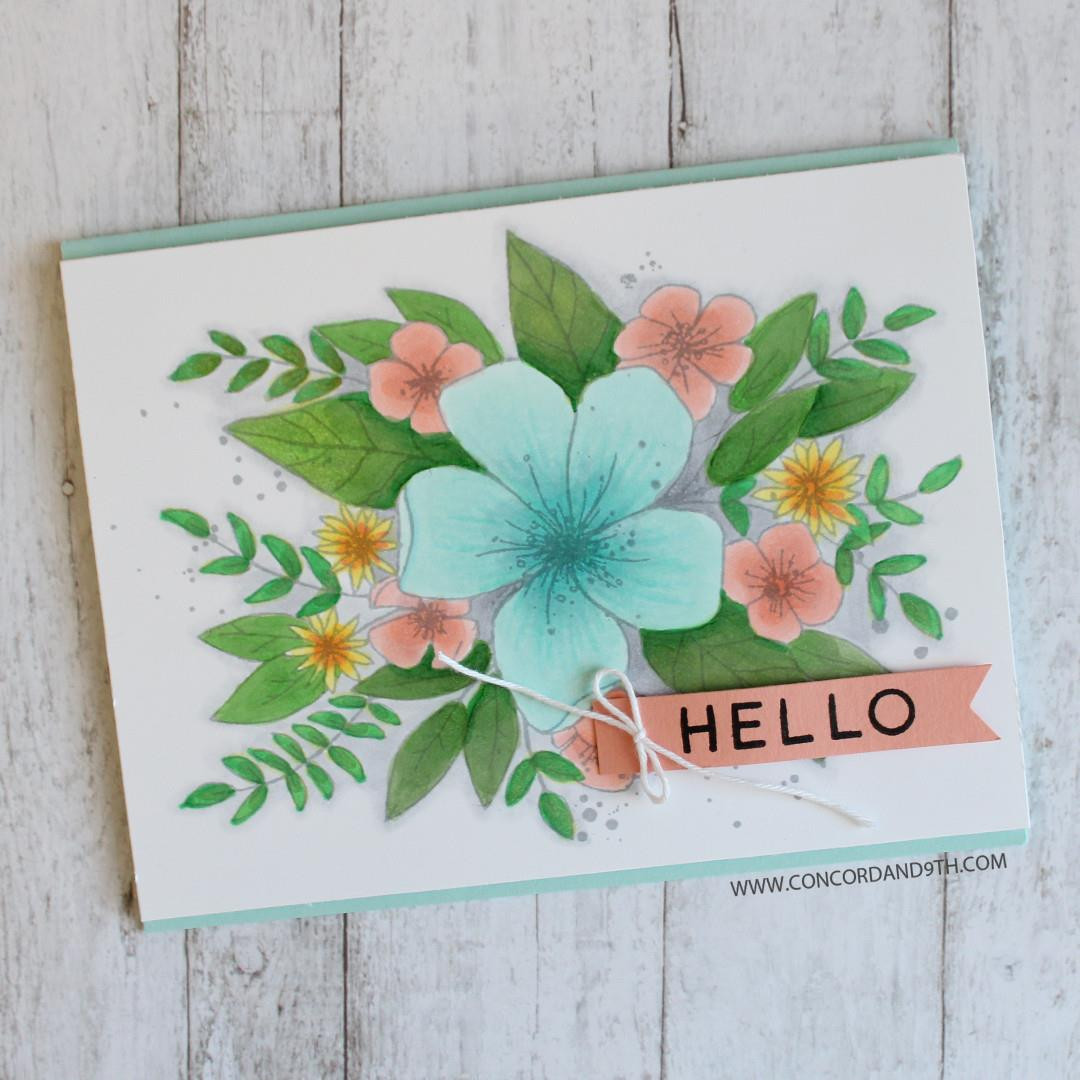 Hello Lovely, Concord & 9th Clear Stamps - 671839723097