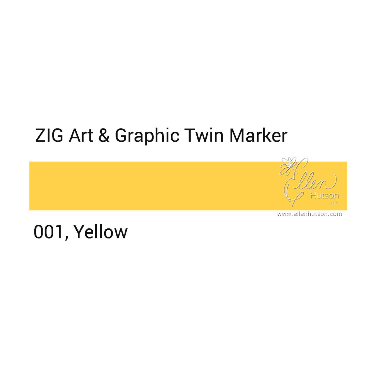 Yellow, Zig Art & Graphic Twin Tip Marker -