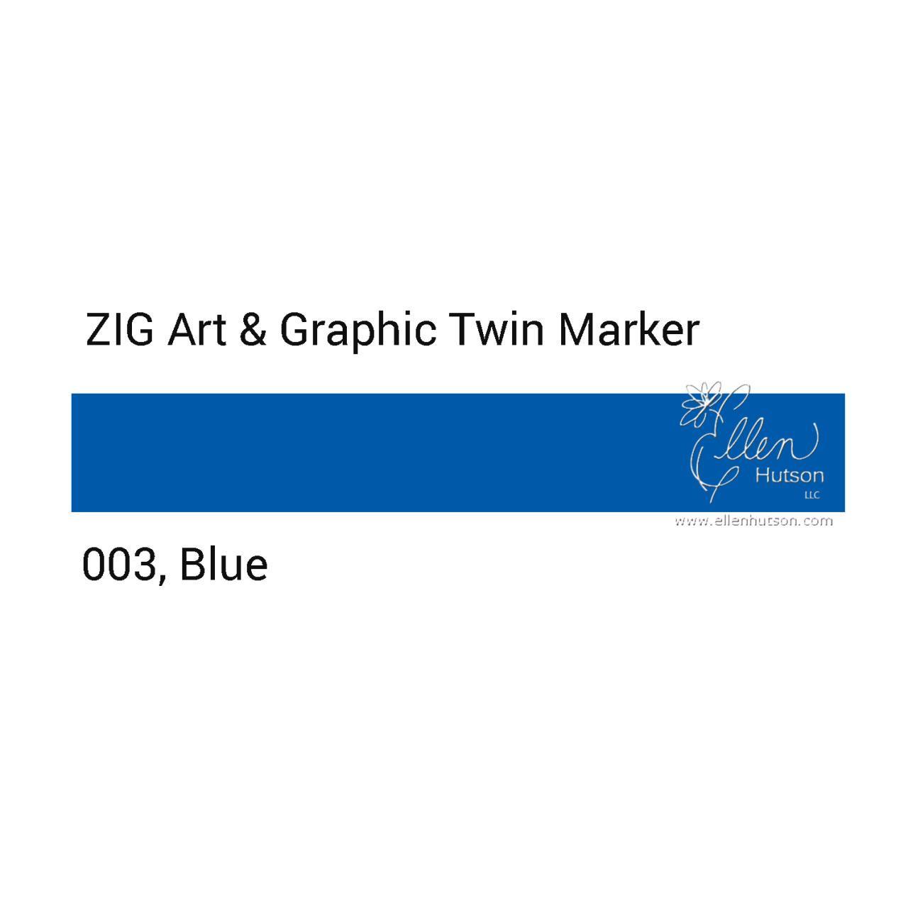 Blue, Zig Art & Graphic Twin Tip Marker -