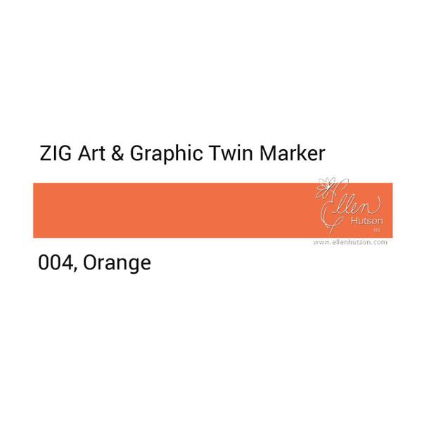 Orange, Zig Art & Graphic Twin Tip Marker -