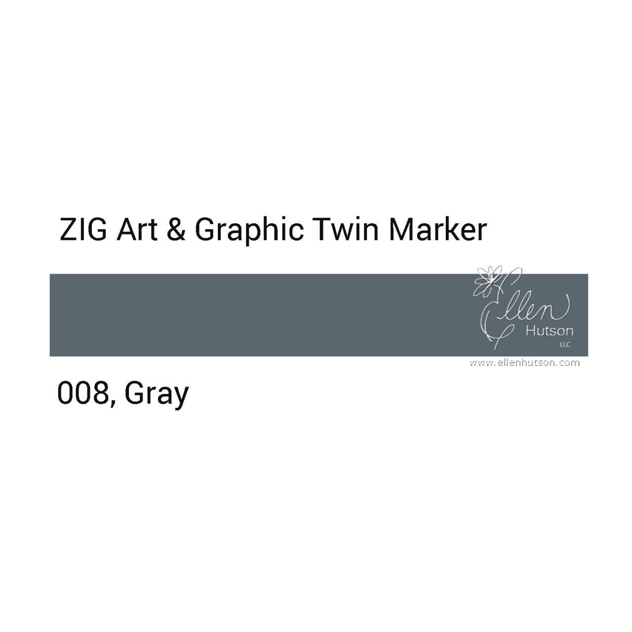 Gray, Zig Art & Graphic Twin Tip Marker -