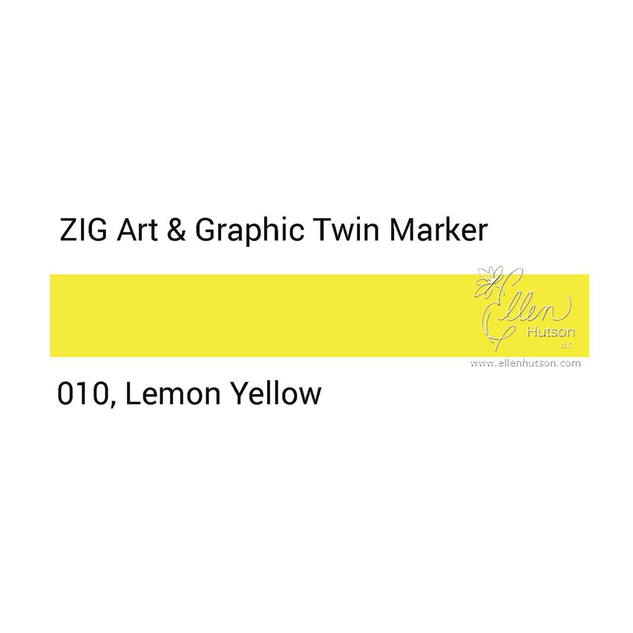 Lemon Yellow, Zig Art & Graphic Twin Tip Marker -