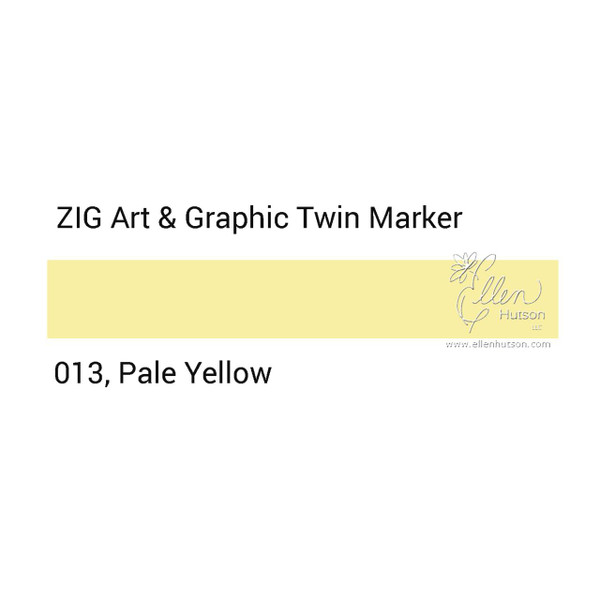 Pale Yellow, Zig Art & Graphic Twin Tip Marker -