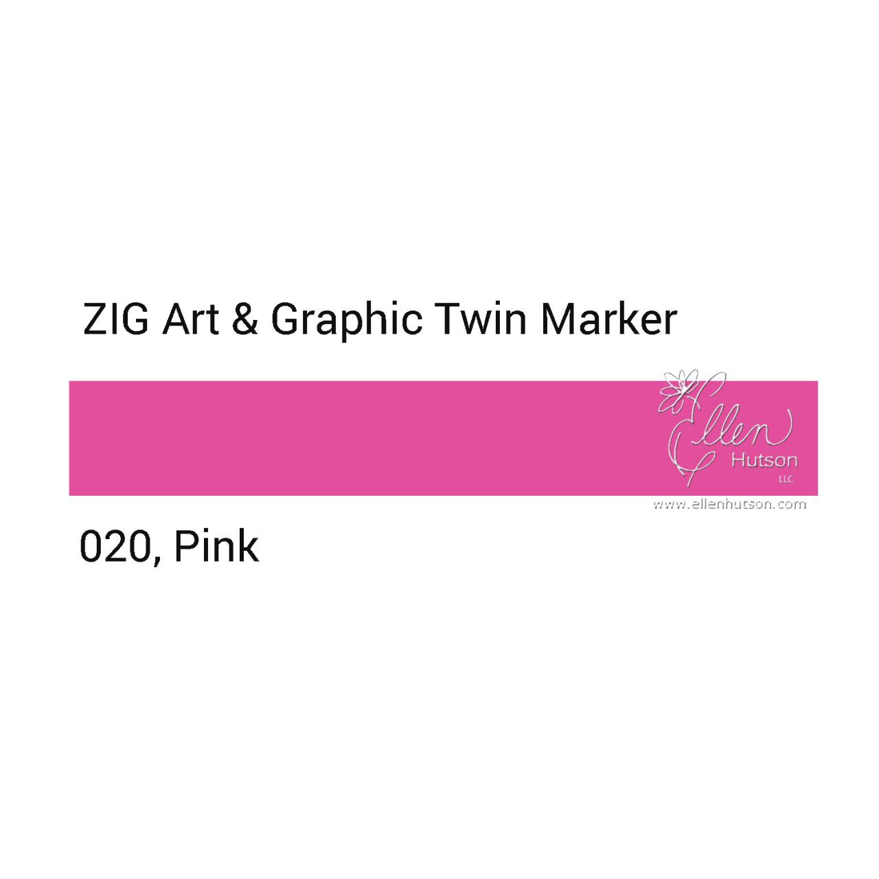 Pink, Zig Art & Graphic Twin Tip Marker -