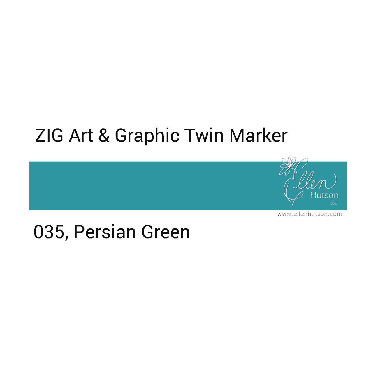 Persian Green, Zig Art & Graphic Twin Tip Marker -