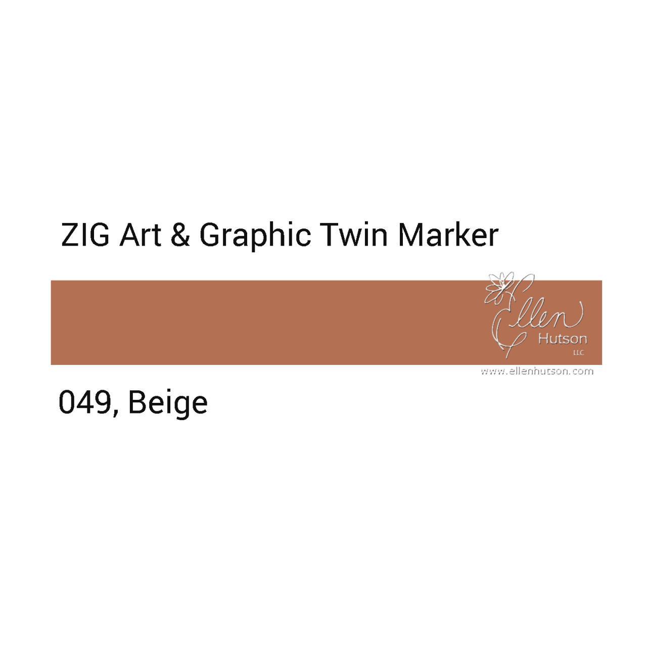 Beige, Zig Art & Graphic Twin Tip Marker -