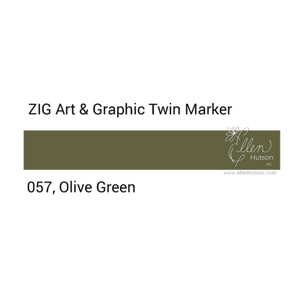 Olive Green, Zig Art & Graphic Twin Tip Marker -
