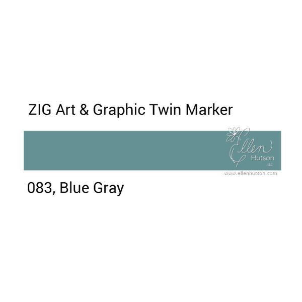 Blue Gray, Zig Art & Graphic Twin Tip Marker -